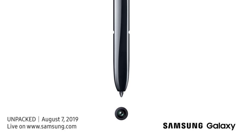 Convite para evento de lançamento do Galaxy Note 10