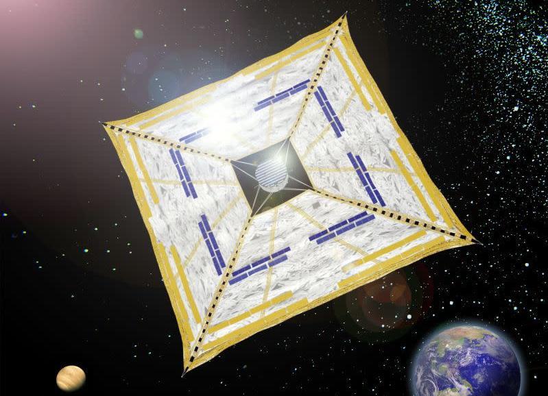 Concepção artística de vela solar da JAXA, a agência espacial japonesa