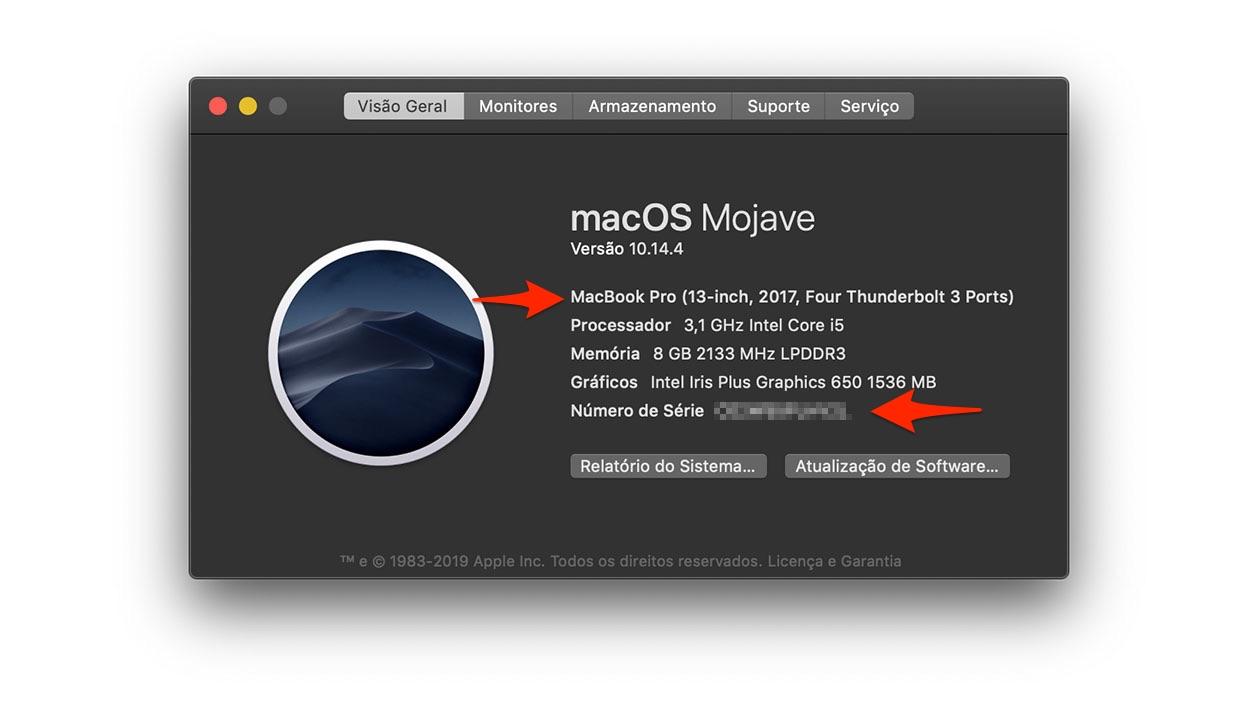 Informações sobre o Mac