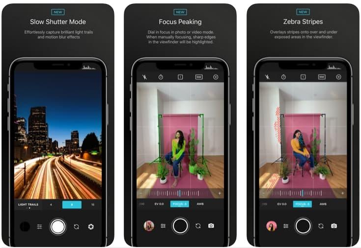 Telas do aplicativo Moment - Pro Camera para iOS