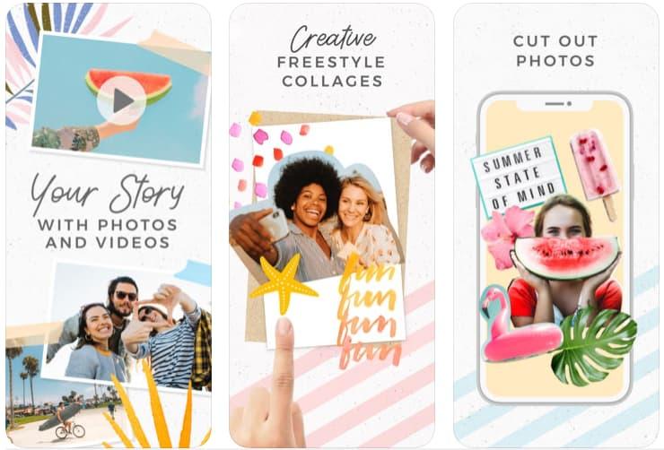 Telas do aplicativo PicCollege para iOS