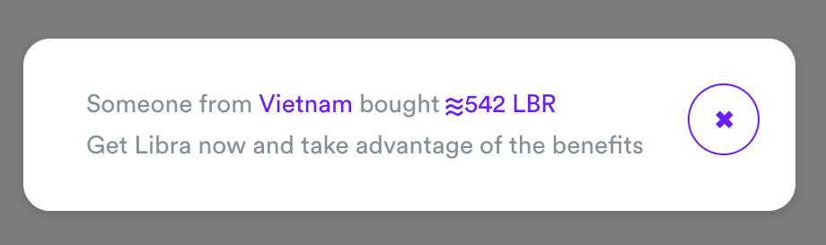 Pop-up em site diz que cliente do Vietnã comprou moeda virtual Libra