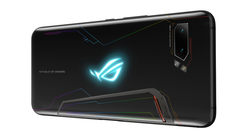 Traseira do ROG Phone 2, da Asus