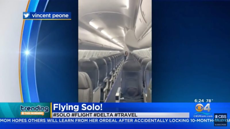 Diretor de cinema disse ter sido o único passageiro em voo da Delta e conseguiu enganar muita gente