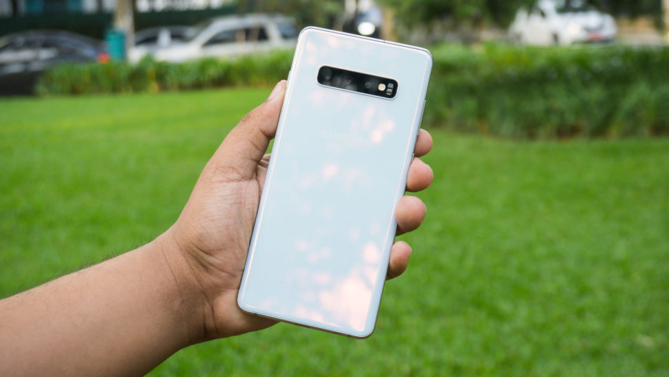 Traseira do Galaxy S10 Plus