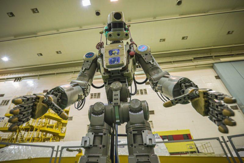 A Rússia mandou Fedor, um robô humanoide, para o espaço