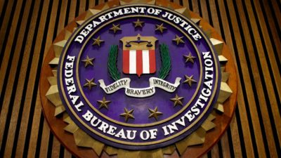 Logo do FBI.