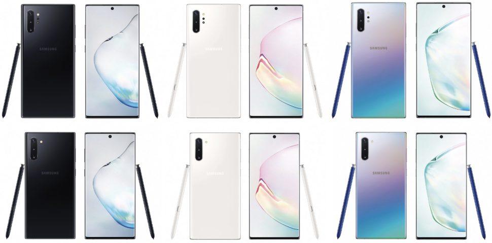 Modelos do Galaxy Note 10 e Galaxy Note 10 +