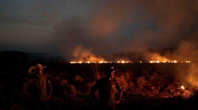 Incêndio em Nova Santa Helena, no Mato Grosso, em 23 de agosto.