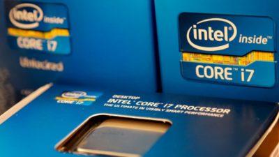 Caixa de um processador Intel Core i7
