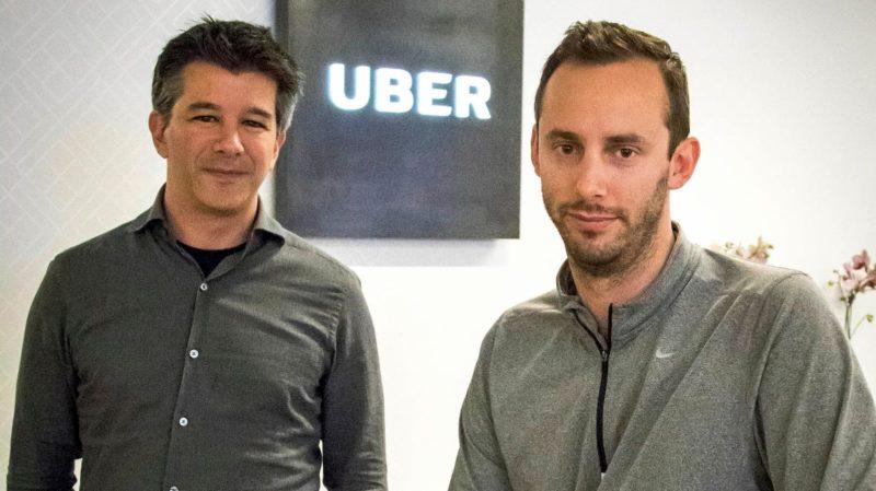 Ex-CEO e cofundador da Uber, Travis Kallanick, junto de Anthony Lewandoski