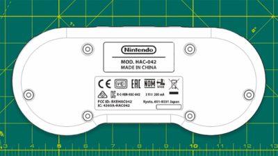Ilustração do controle do Super Nintendo presente na documentação da FCC