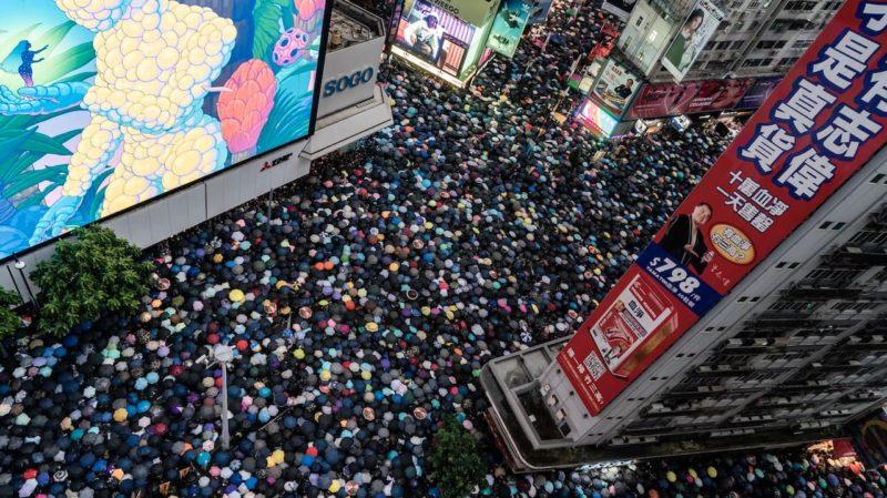 Protestos nas ruas de Hong Kong