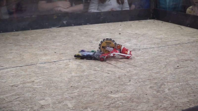 Robôs Speed Wedge e Ubersaw lutando