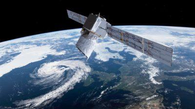 Satélite Aeolus, da ESA (Agência Espacial Europeia), que mede ventos