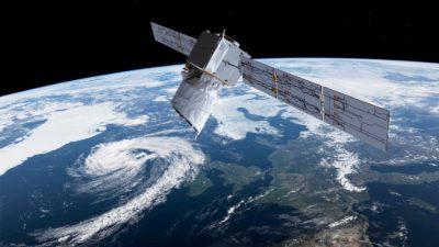 Satélite Aeolus, da ESA, que mede ventos na Terra