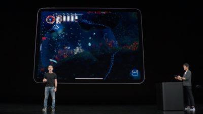 Apple Arcade durante evento da Apple em setembro de 2019