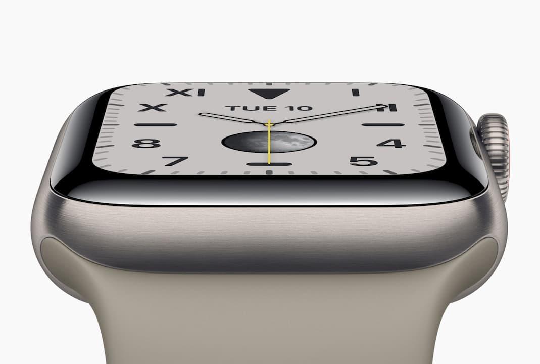 Detalhe do Apple Watch Series 5