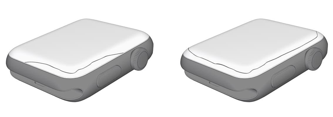Ilustração da tela quebrada do Apple Watch