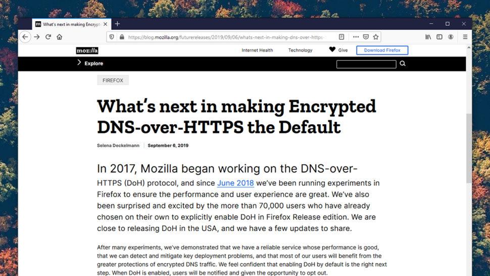 Explicação da Mozilla em inglês sobre o DNS Over Https