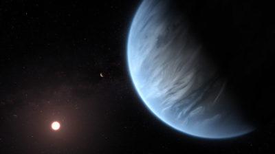 Ilustração do exoplaneta K2-18b
