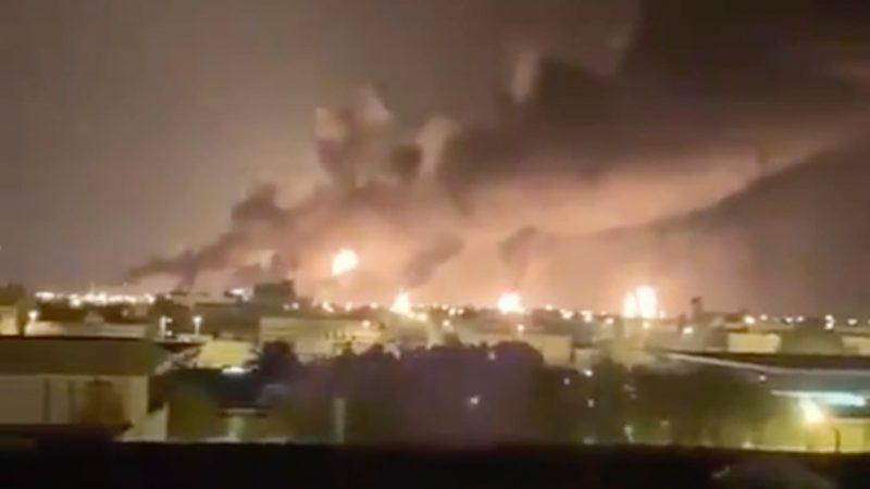 Ataque de drones em instalações de petróleo interrompe metade da produção da Arábia Saudita