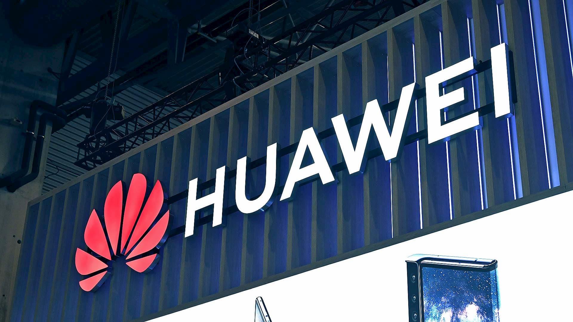Logotipo da empresa chinesa Huawei
