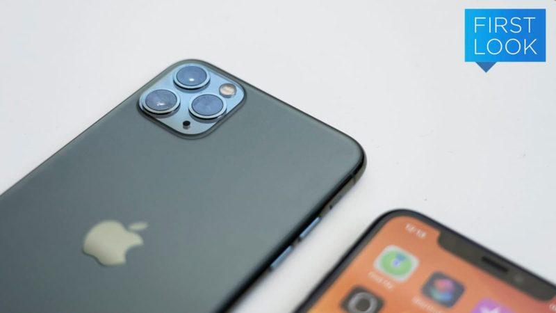 costas do iPhone 11 Pro, mostrando as três câmeras do aparelho