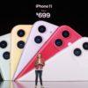 Preço do iPhone 11; nos EUA, começa em US$ 699