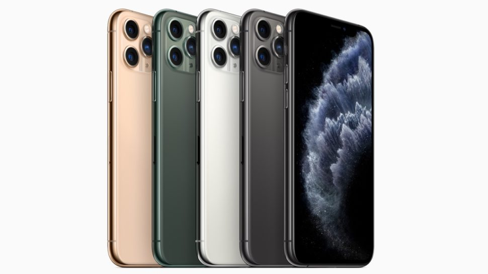 Diferentes cores do iPhone 11 Pro