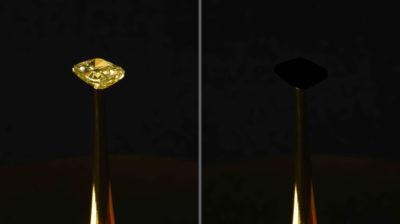 Diamante revestido com material super escuro criado pelo MIT