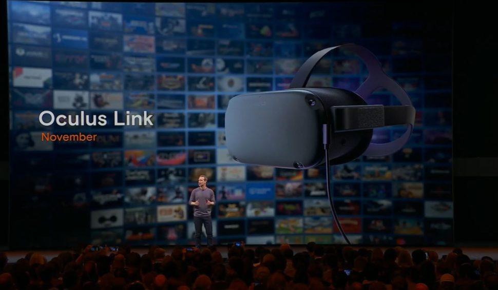 oculus link 970x566 - Headset autônomo da Oculus poderá controlará realidade virtual apenas com as mãos