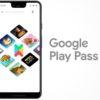 Logotipo do serviço Google Play Pass