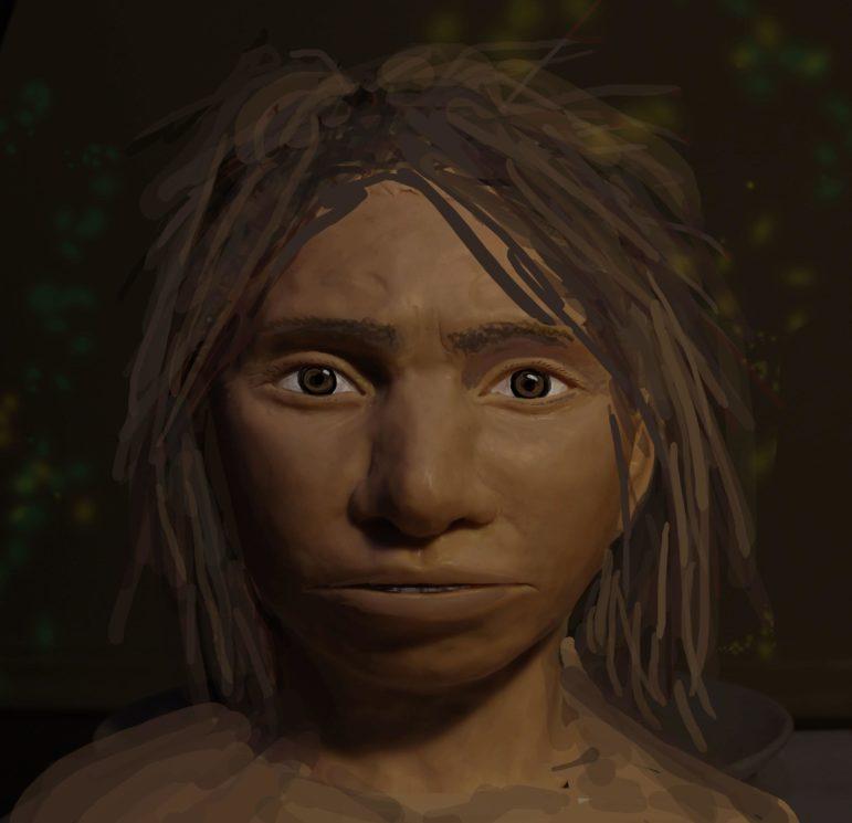 Retrato preliminar de jovem denisovana
