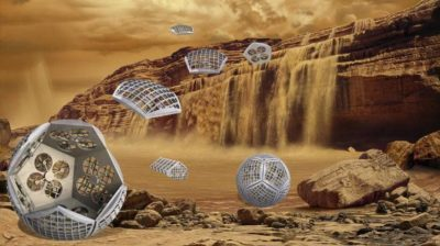 Conceito artístico do robô Shapeshifter, que deve explorar a lua Titã de Saturno
