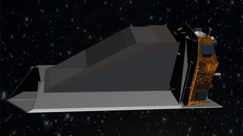 Conceito artístico do NEOCam, um telescópio espacial construído para caçar asteroides potencialmente perigosos. Ilustração: NASA/Jet Propulsion Lab