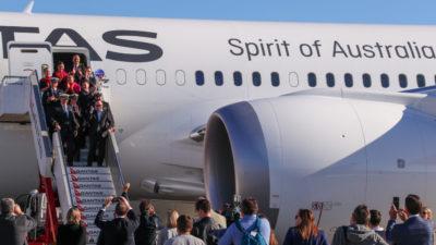 Avião da companhia australiana Qantas