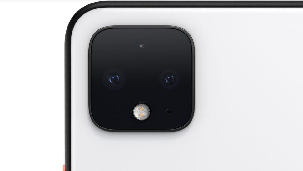 Detalhe da câmera do Pixel 4