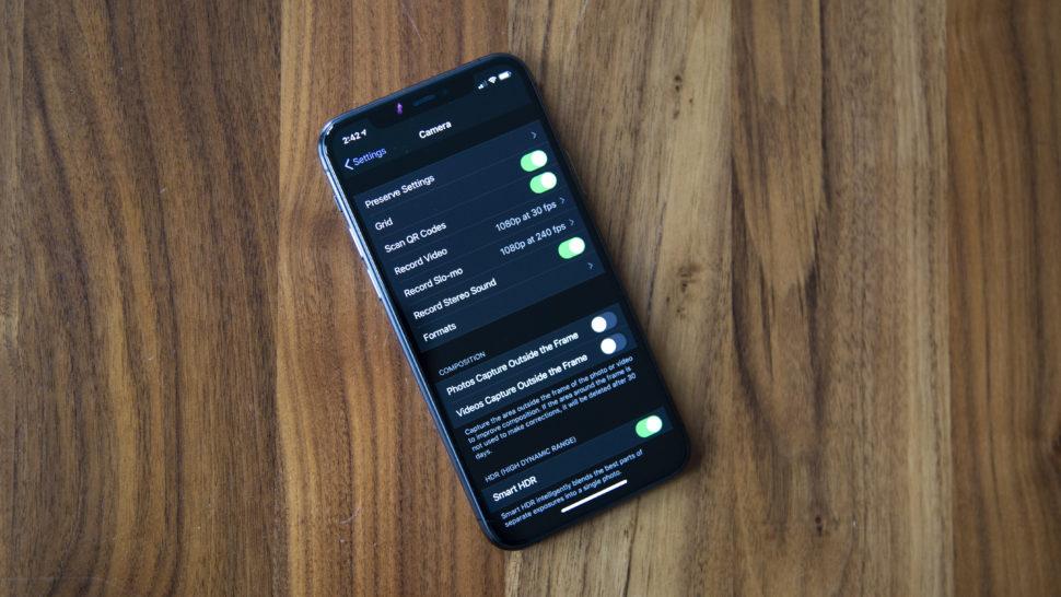 configurações do Deep Fusion no iPhone 11