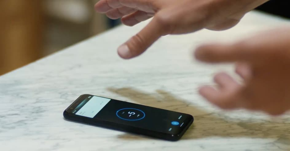 Controle de gestos do Pixel 4
