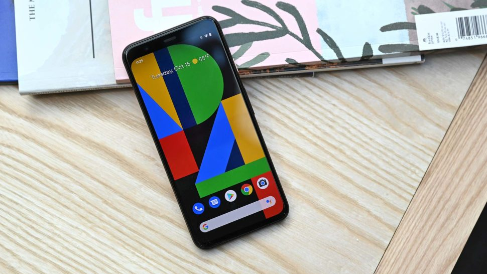 Google Pixel 4 de frente