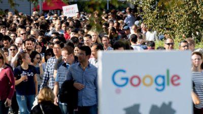 Funcionários do Google em protesto