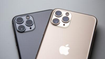 Traseira de dois iPhones 11 lado a lado