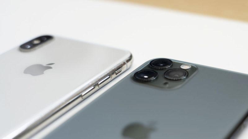 iPhone 11 e iPhone 11 Pro lado a lado