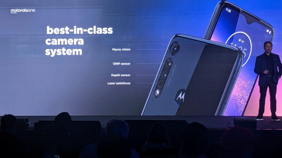 Detalhes das câmeras do Motorola One Macro