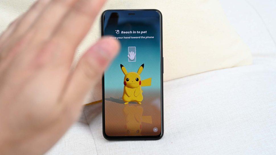 Recurso de gestos permite dar tchau para o Pikachu no Pixel 4