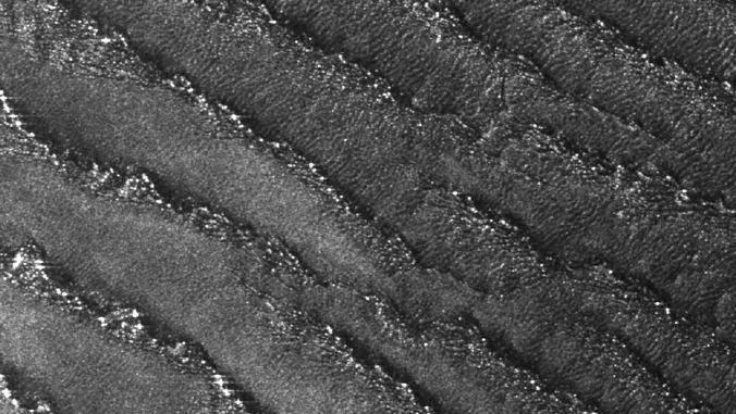 Superfície da lua Titã, de Saturno