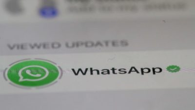 Logotipo do WhatsApp. Crédito: Justin Sullivan/Getty Images