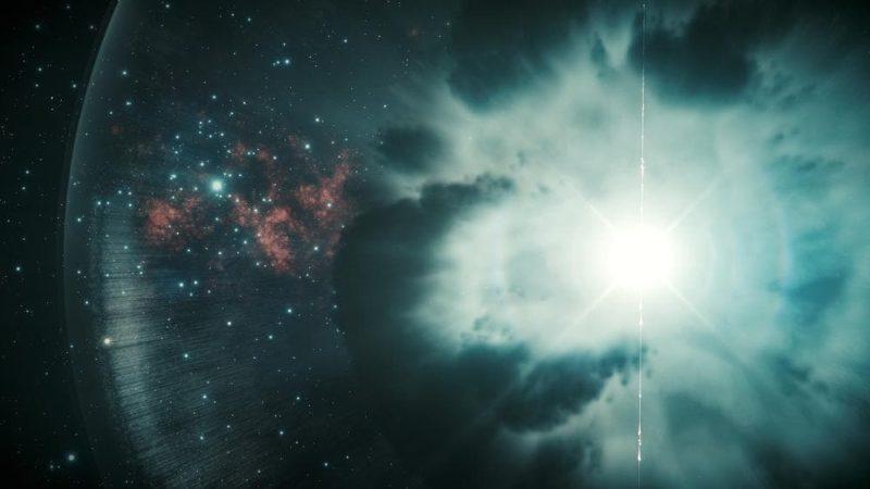 Concepção artística de uma supernova