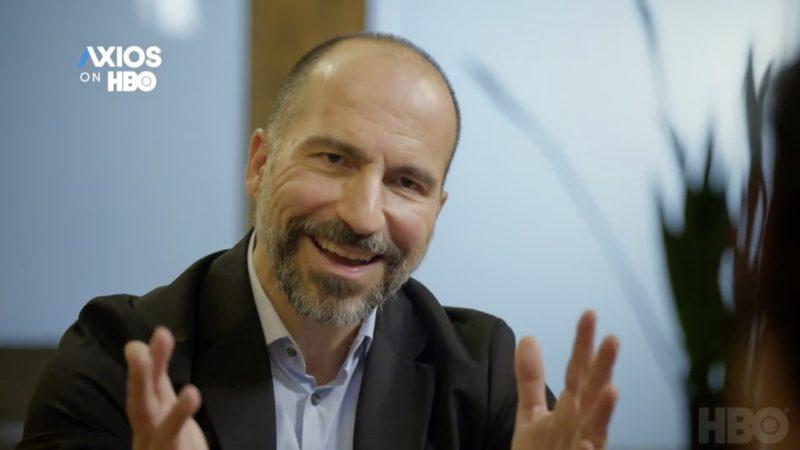 CEO da Uber, Dara Khosrowshahi, em entrevista ao Axios